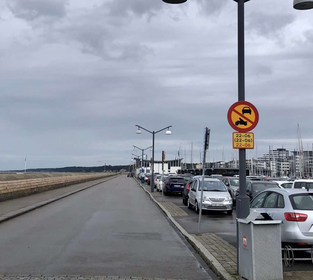 Fordonstrafik Norra Hamnen Marina